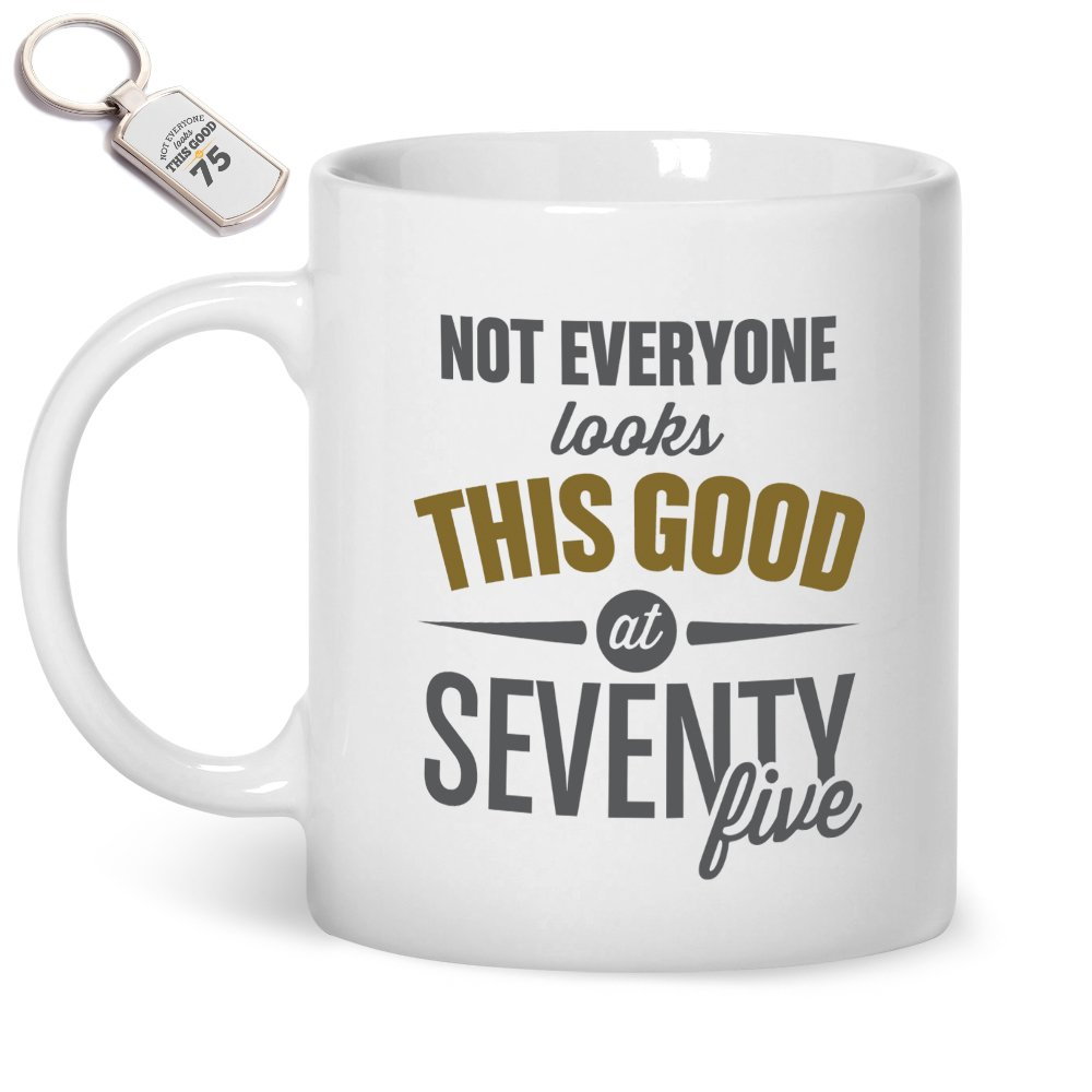 75th Birthday Gifts For Men Mug And Key Ring 75th birthday gifts