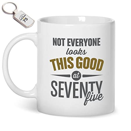75th Birthday Gifts For Men Mug And Key Ring