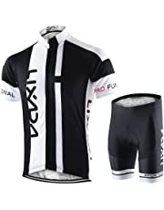 46013778bc Lixada Maillots de Ciclismo Hombres Camiseta y Pantalones Cortos de Ciclismo  Conjunto de Ropa para Ciclismo