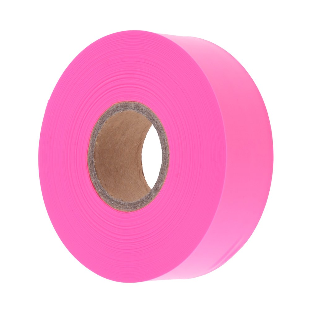 Baoblaze High Visibility Ribbon Marking Flagging Tape for Gardener and Homeowner - Pink, as Described