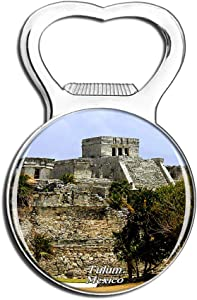 Weekino Mexico Tulum Mayan Ruins Cancun .png Fridge Magnet Bottle Opener Beer City Travel Souvenir Collection Strong Refrigerator Sticker