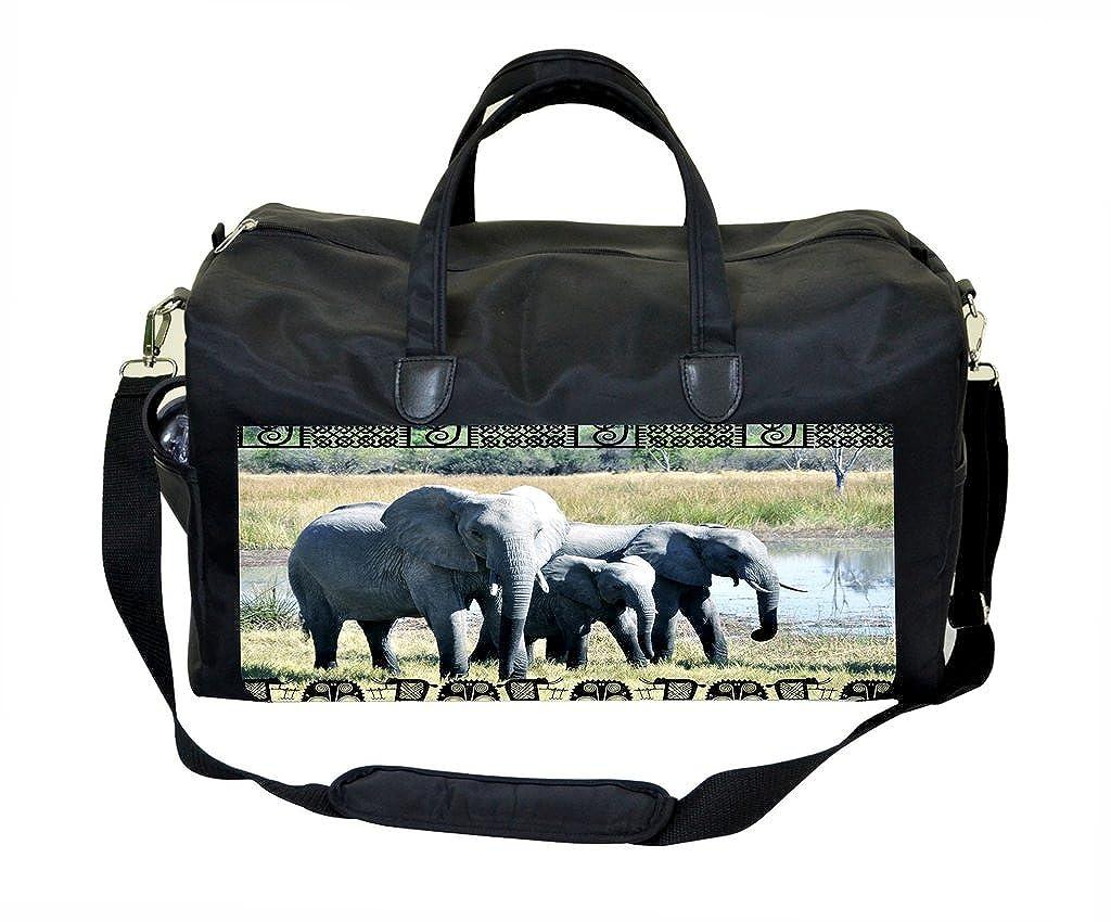 Tribal Elephant Print Weekender Bag