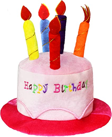 Swell Amazon Com Novelty Place Pink Plush Happy Birthday Cake Hat Funny Birthday Cards Online Elaedamsfinfo