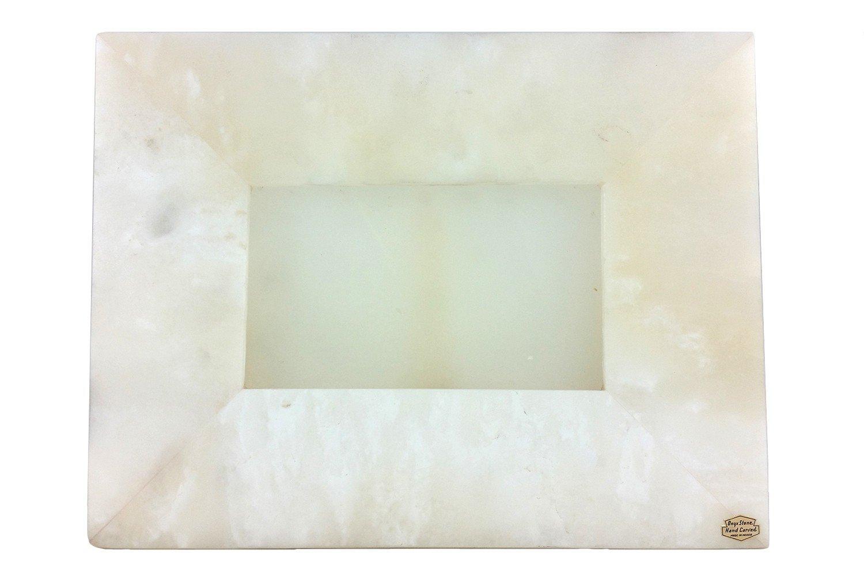 Portaretrato de Ónix Color Blanco en Forma de Rectángulo Horizontal 30 x 23 cm: Amazon.es: Hogar