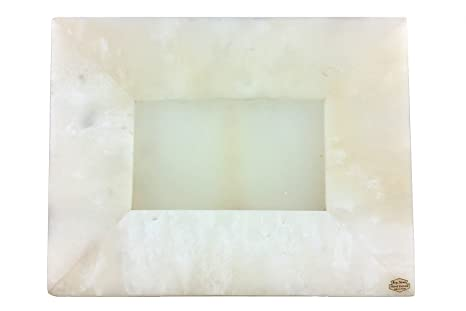 Portaretrato de Ónix Color Blanco en Forma de Rectángulo Horizontal 30 x 23 cm