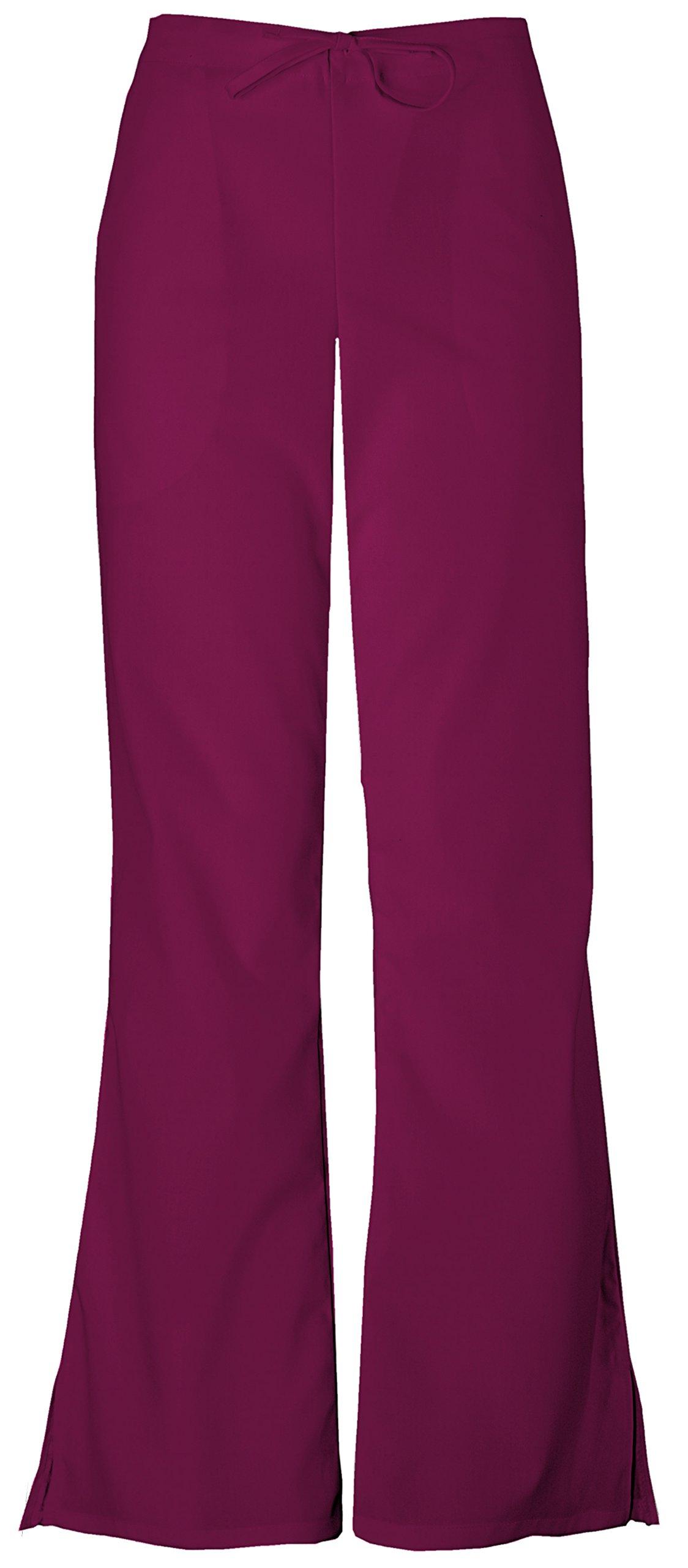 Cherokee Workwear Originals Women's Natural Rise Flare Leg Scrub Pants XX-Small Wine