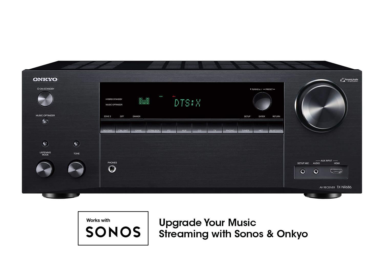 Onkyo TX-NR686 7.2 Channel THX Certified Network A/V Receiver Black by Onkyo