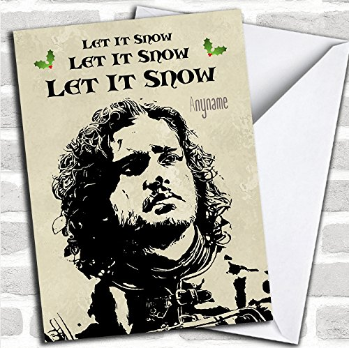 Office Games For Christmas - Game Of Thrones Jon Snow Personalized Christmas Card