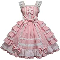 Smiling Angel Girls Sweet Lolita Dress Princess Lace Court Skirts Cosplay Costumes