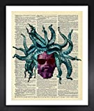 retro 11 breads - Rastaman Octopus Art Dictionary Print Vintage 8x10 Upcycled Abstract For Home Decor Decorations For Living Room Bedroom Office Ready-to-Frame
