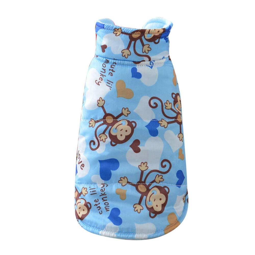 Vêtements pour Chien,Vêtements de Chien imprimés de Pulls molletonnés Confortables Confortables de Mode,Manteau Habits pour Chien (XL, Rose)