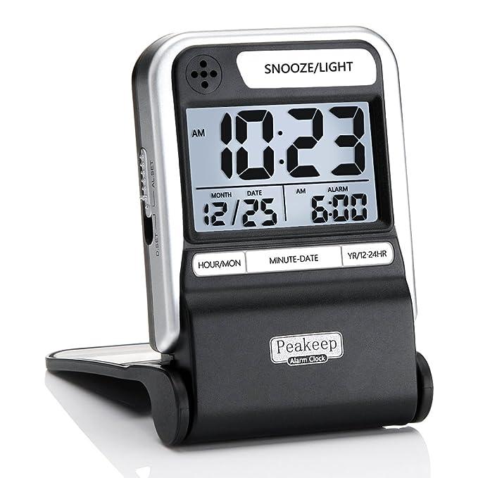 Amazon.com: Peakeep - Reloj despertador para viajes ...