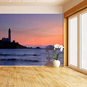 HIMURAL Turnberry Lighthouse and Ailsa Craig at Sunset XL ...