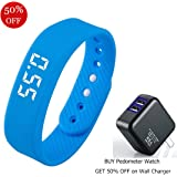 Smart Wristband Pedometer Watch Non-Bluetooth Pedometer Bracelet Fitness Tracker Watch with Step Calories Counter Distance Time / Date [No app,No Phone need] for Walking Running Kids Men Women