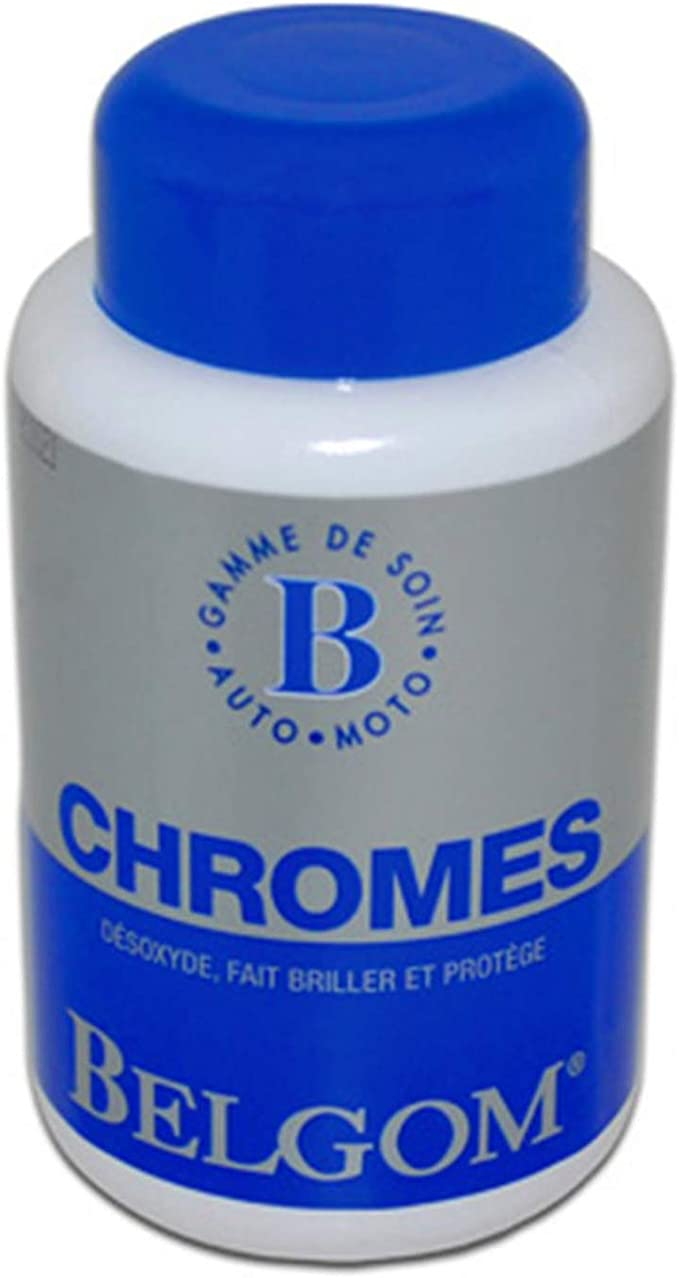 Cleaning Motorcycle Belgom Chrome Auto