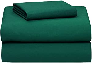 Empire Home Persian Collection 1900 Sheet Set Fitted Flat Two Pillow Cases 16 Deep Pocket Wrinkle Free (Hunter Green, Queen Size)