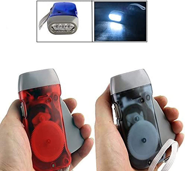 Self-Winding Hand Crank Flashlight
