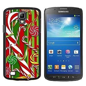 TECHCASE---Cubierta de la caja de protección para la piel dura ** Samsung Galaxy S4 Active i9295 ** --Bastón Blanco rojo de Navidad Navidad