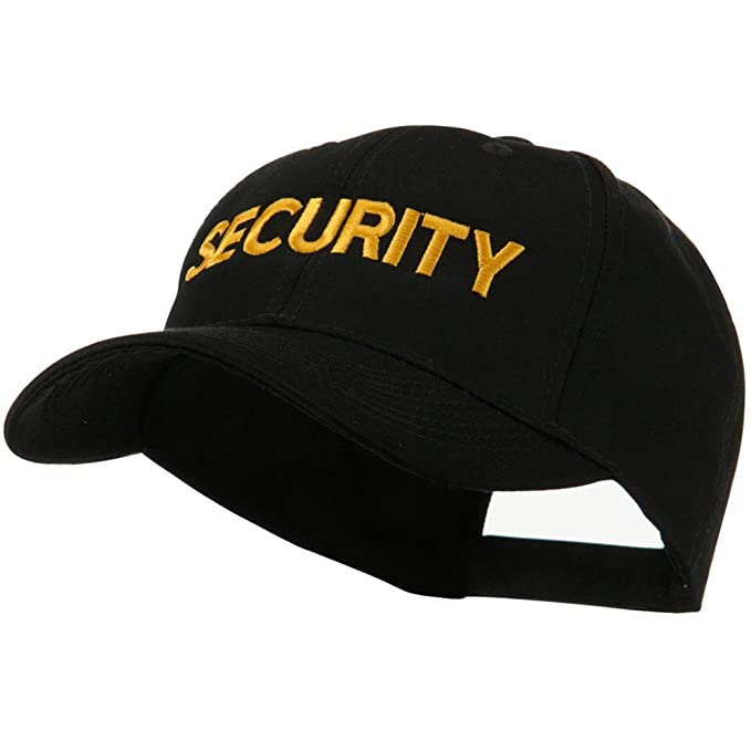 Embroidered Military Cap - Security OSFM at Amazon Men s Clothing ... bbf31b071fb