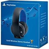 Official PS4 PS3 PS Vita Gold Wireless Stereo Headset 7.1