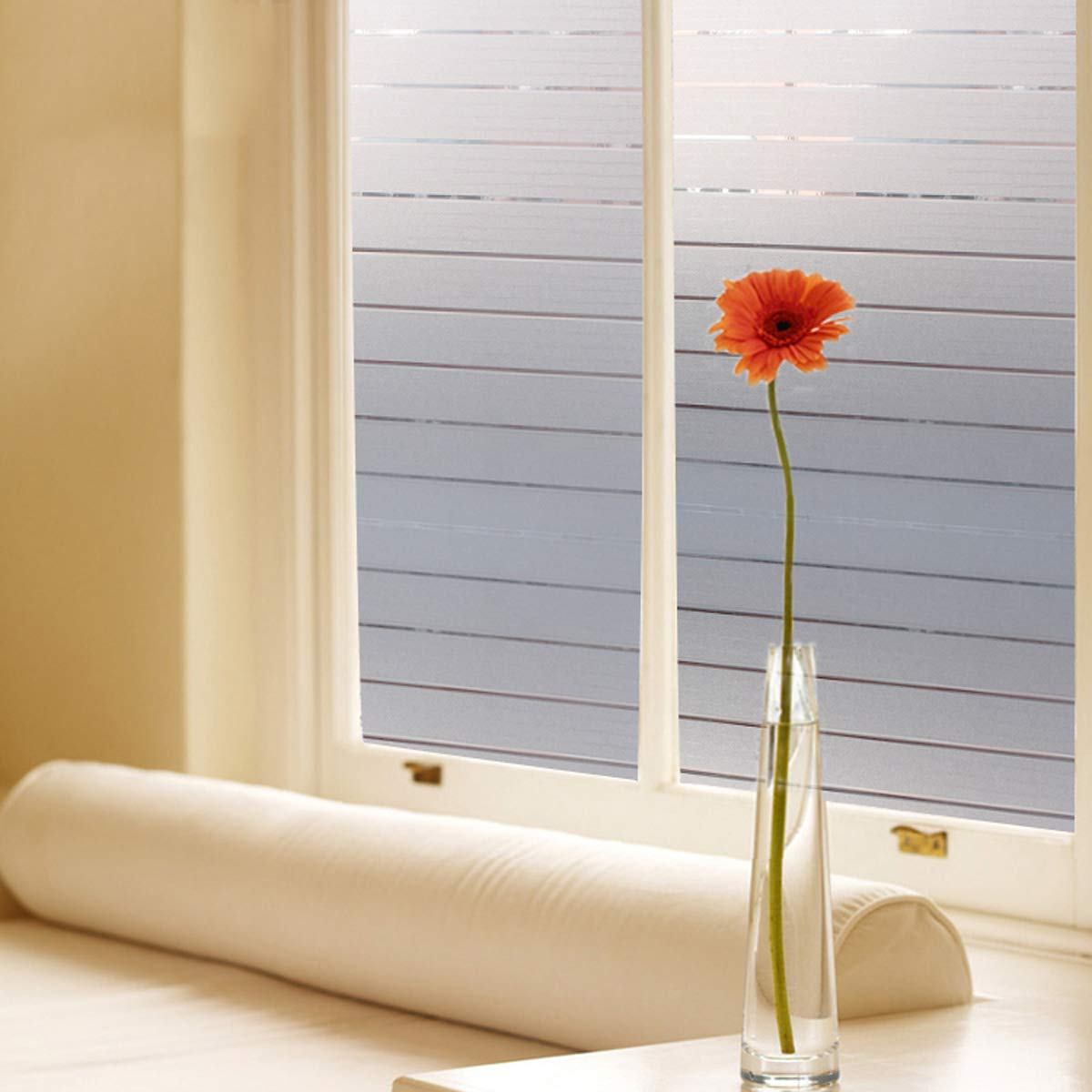 Bloss Frosted Window Shades Decorative Window Glass Film Stained Vinyl Privacy(17.7-by-78.7 Inch)