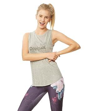 Desigual Essentia 2042 Camisetas sin Mangas, Mujer, Gris (Vigore Claro), S