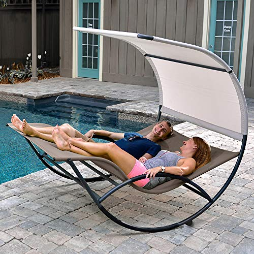Take $200 off an aluminum double chaise rocker