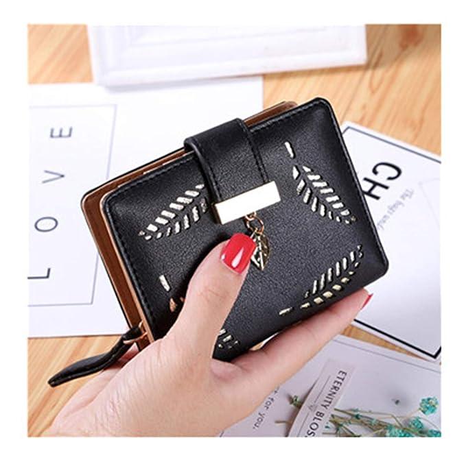 WomenS Wallet Purse Female Small Wallet Perse Portomonee Portfolio Lady Short Carteras Black