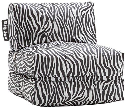 Big Joe Flip Lounger, Zebra (Zebra Bean Bag Chair)