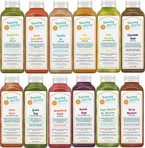 JUICE CLEANSE - 2 Day,Organic Cold Pressed Juice and Smoothie (Organic 100% Orange Extract)