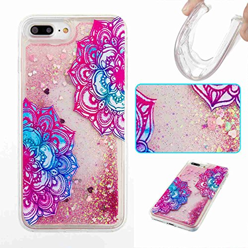 iPhone 7 Plus Case,Jessica[Liquid Glitter Quicksand Series][Painted Style]Soft Transparent TPU Flowing Floating...