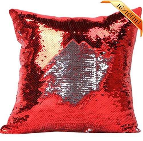[Livingly Light Mermaid Discoloration Magic Sequins Throw Pillow DIY Free Style Creative Decor Cushion in Room Sofa Bed Car, Shine Pink & Silver, Covers] (Diy Halloween Decor)