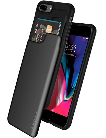 premium selection 6a4ff c9806 iPhone 8 Plus Case, iPhone 7 Plus Case, GOOSPERY [Sliding Card Holder]  Protective Dual Layer Bumper [TPU+PC] Cover with Card Slot Wallet for Apple  ...