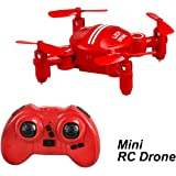 Boys Toys Mini Drones for Kids Girls Foldable Portable Quadcopters with 360° Roll-over and Headless Mode (Red) By Luxon