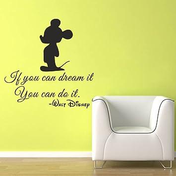 Disney Stickers Muraux Citation Mur Si Vous Pouvez Dream It Do It