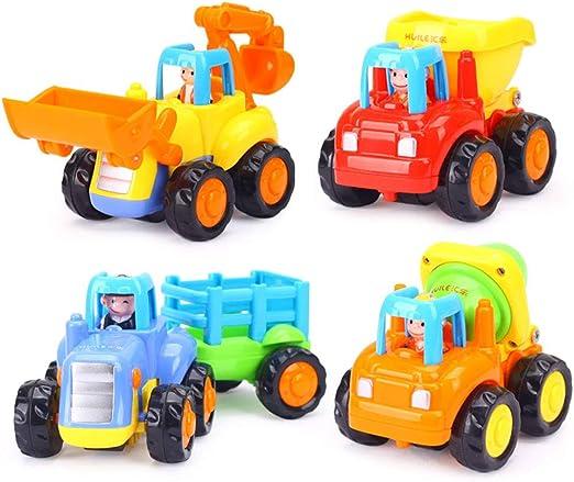 Xyanzi Juguetes De Construcción Para Niños Camiones Coches Alimentados Por Fricción Camiones De Juguete De 1 A 3 Años De Edad Para Niños Camión De Saltar Mezclador De Cemento Bulldozer
