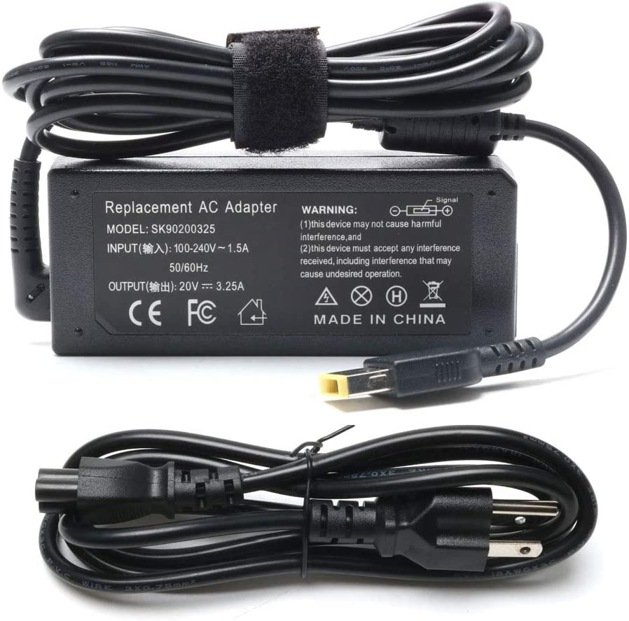 65W USB Tip AC Adapter Laptop Charger for Lenovo ideapad G50-45 G51-35 G50-70 G50-80 U530 300-17ISK 700-15ISK G40-80 Thinkpad 11e Yoga 11e Chromebook E570 E555 E550 T540P T440 T440P Power Supply Cord