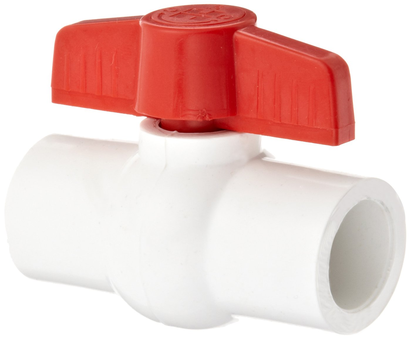 Hayward QVC1005SSEW Series QVC Compact Ball Valve, Socket End, White, 1/2'' Size