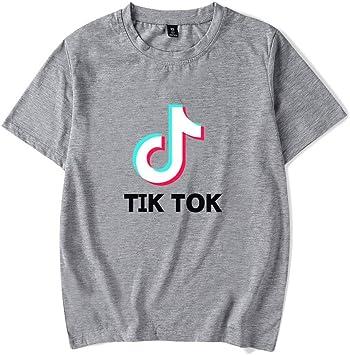 Nologo Unisex TIK Tok Cortocircuito de la Camiseta de Manga Casual Letras Impresas Verano suéter de Cuello Redondo Tops Tees for niños y niñas: Amazon.es: Deportes y aire libre