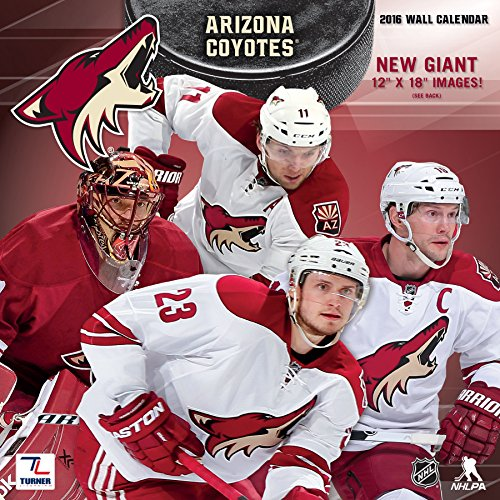 "Turner Phoenix Coyotes 2016 Team Wall Calendar, September 2015 - December 2016, 12 x 12"" (8011952)"