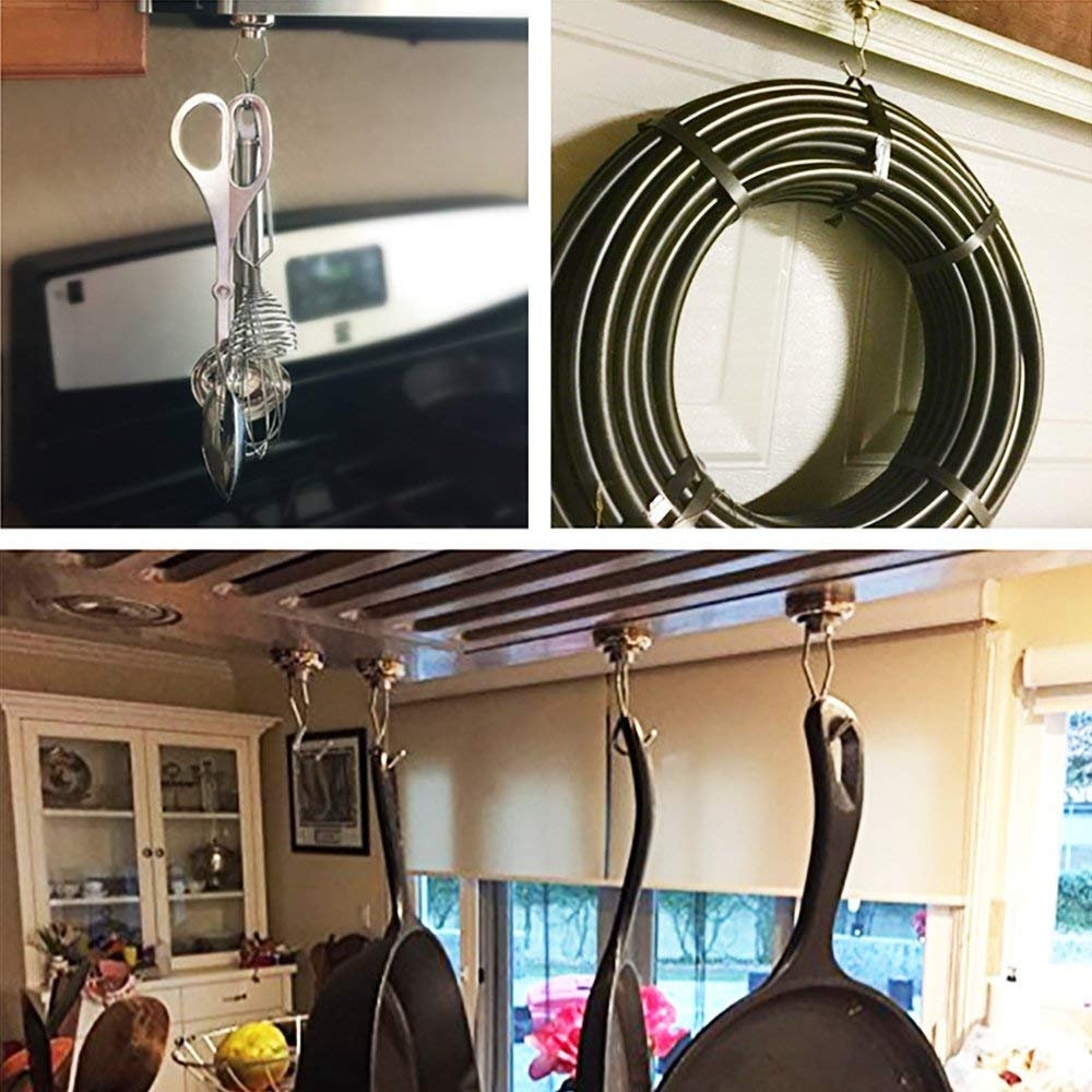 Durchmesser 25mm,Wukong Zugkraft 19kg Super Starker Neodymium Magnet Haken Stark Neodym /Ösenmagnet Magnethaken 12 St/ück
