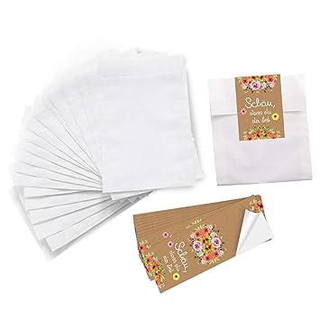 679301cc7 Logbuch-Verlag - Bolsa de Papel para Tarjetas de Invitados (10,5 x 15 cm),  diseño de Flores, Color Rosa, Papel, 10 Unidades: Amazon.es: Juguetes y  juegos