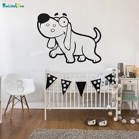 zhuziji Cartoon Animal Etiqueta de La Pared Silly Dog Home Decor ...