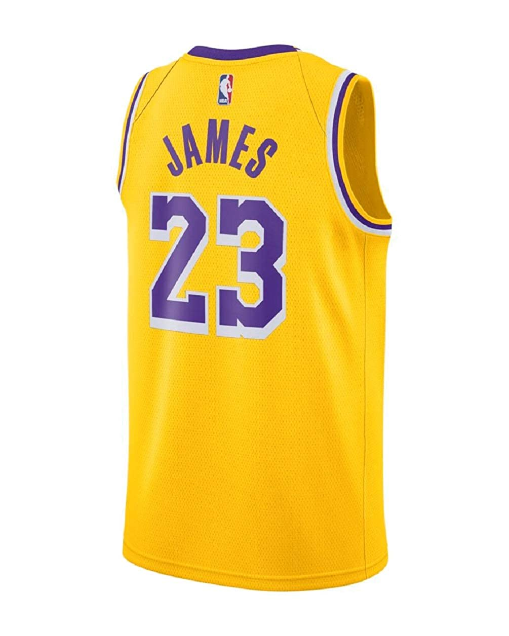 eaec3f0d Amazon.com: Nike Mens Los Angeles Lakers Lebron James 2018-19 NBA Swingman  Gold Jersey 100% Authentic: Clothing