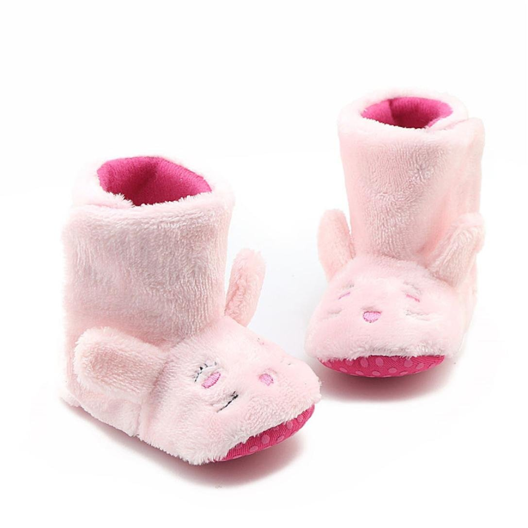 Voberry Infant Baby Girls Boys Cute Snow Boots Soft Sole Prewalker Toddler Warm Shoes