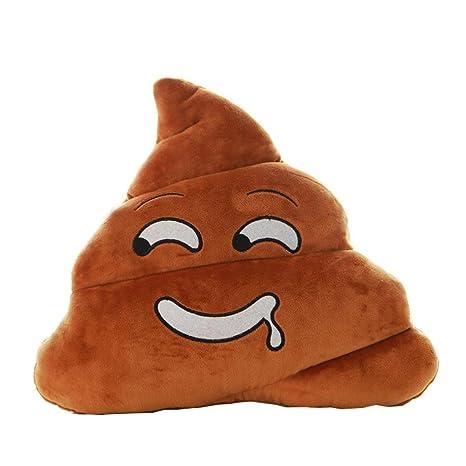 Cojín de peluche con forma de Emoji de caca para decoración ...