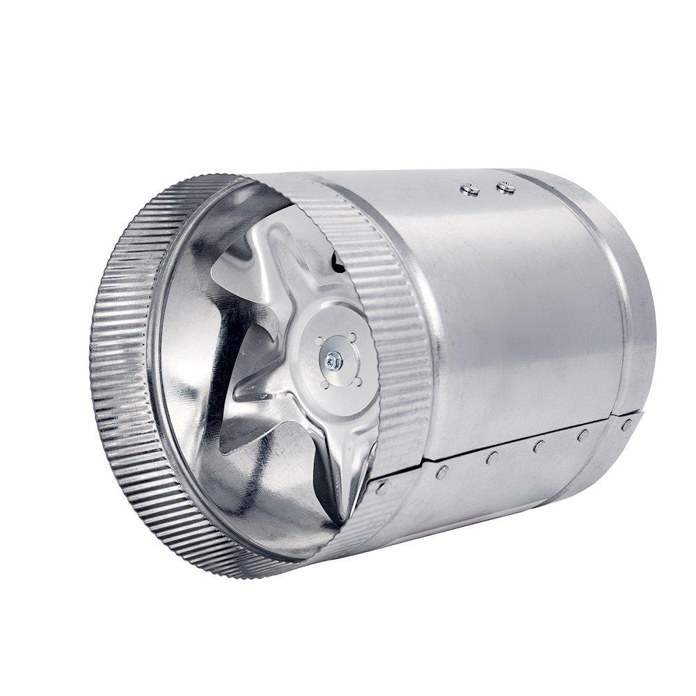 100mm Hon/&Guan Ventilador Extractor de Escape l/ínea para Tienda de Cultivo hidrop/ónico Metal Extractor -100mm Metal