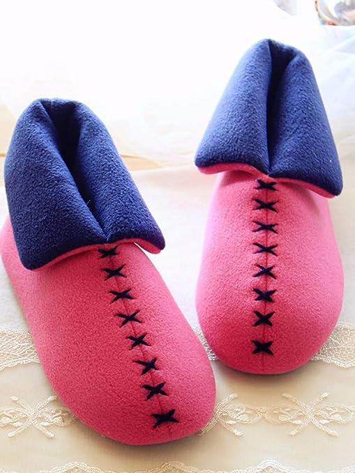 XIAOGEGEMT Zapatillas de Interior Lindas japonesas Lindas Antideslizantes Zapatos de Muebles Calientes, EU 36/38, Rojo: Amazon.es: Deportes y aire libre