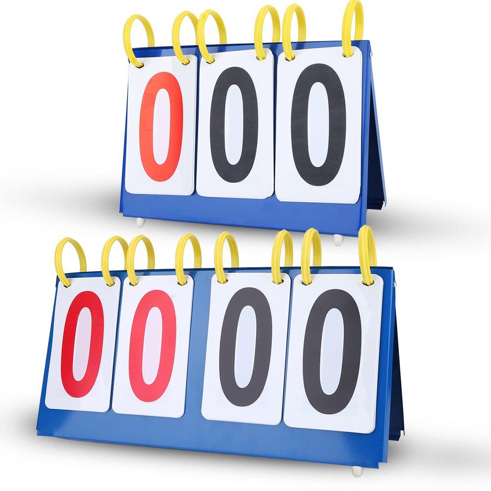 VGEBY Marcador de Puntuación Marcador de Tabla Impermeable 3/4 Dígitos(3 Dígitos)