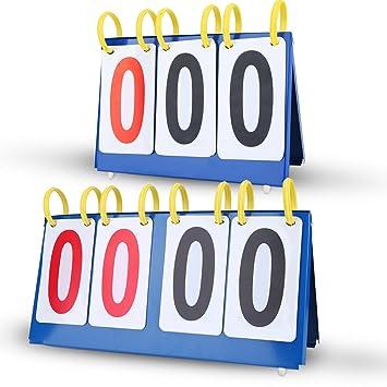 VGEBY Marcador de Puntuación Marcador de Tabla Impermeable 3 4 Dígitos(3  Dígitos) bd0308757c3ea